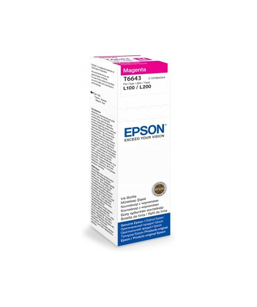 EPSON T6643 MAGENTA INK CONTAINER 70ml