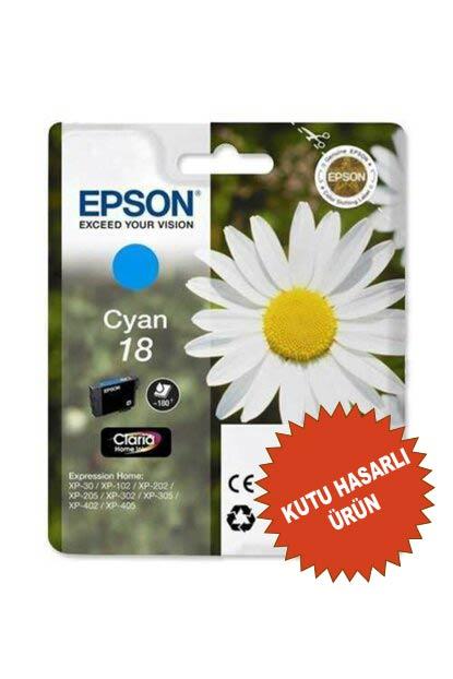 EPSON 18 ORİJİNAL KARTUŞ MAVİ (KUTU HASARLI)