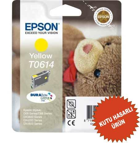 EPSON T0614 ORİJİNAL KARTUŞ SARI (KUTU HASARLI)