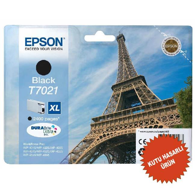 EPSON T7021XL ORİJİNAL KARTUŞ SİYAH (KUTU HASARLI)