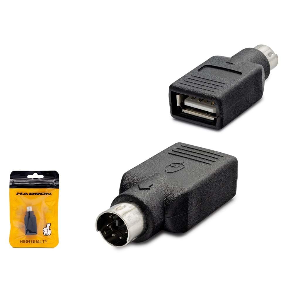 HADRON HN4133 ADAPTÖR ÇEVİRİCİ USB TO PS/2 F/M