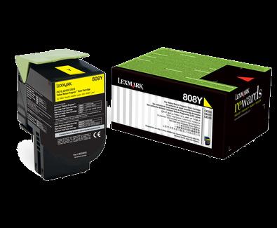 Lexmark 80C80Y0 Sarı Return Toner 1000 Sayfa