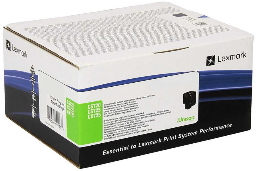 Lexmark 74C50K0 CS720, CS725, CX725 Cyan Return Programme Toner Cartridge